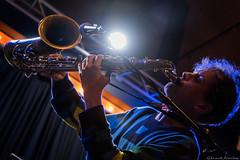 La Petite Halle (Renaud Alouche) Tags: alabaster deplume sax saxo saxophone music jazz electro poet poem concert contrast live love like nikon d750 lights blue energy play paris qwesttv qwest
