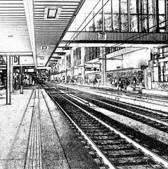 Station - (keinidyll) Tags: germany bavaria munich münchen railwaystation bw ps