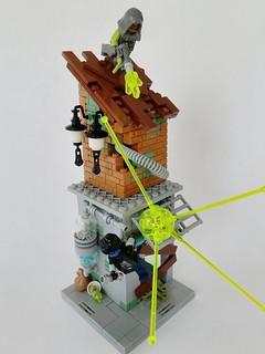Cyberpunk city chase