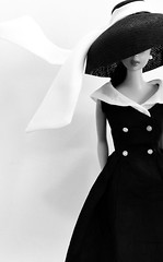 DAY 5: AFTER FIVE (ModBarbieLover) Tags: black white vintage barbie doll 1963 swirl brunette graphic avedon penn photographers fashion style monochrome stylized book cover