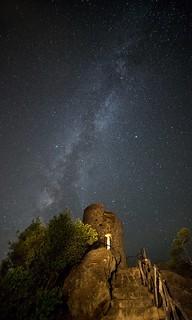 Vía Láctea en la Torre del Verger
