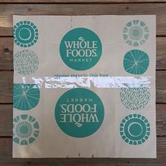 Brown paper bag template (crochetbug13) Tags: crochetbug crochet crocheted crocheting loveacrosstheusa olek raleigh northcarolina crochetsquares crochetpanels crochetinstallation