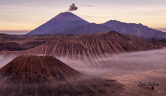 Indonesia - Bromo (Leni Sediva) Tags: czechoutmytravels traveling nature indonesia asia seasia bromo volcano backpacking backbound sunset sunrise clouds coolclouds pink mountains landscape bucketlist dreamscometrue czechgirl colours hiking holidays fog