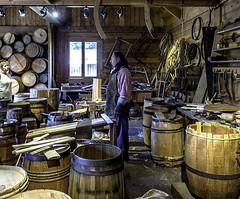 Fort Langley cooperage (Tony Tomlin) Tags: historicsite parkscanada fortlangley fort woodenfort hudsonsbayco barrels cooper cooperage staves