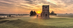Morning mist at Knowlton Church and Henge. (Nick L) Tags: landscape misty mist dawn dawnlight knowlton knowltonchurch sunrise morning dorset uk neolithichenge henge mystic mystical neolithic ngc knowltonhenge unitedkingdom britain england britishcountryside dorsetmisty