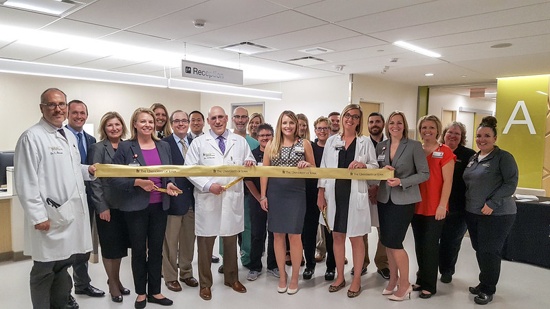 UI Heart and Vascular Center ribbon cutting