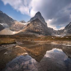 'Day to Day' - Larch Valley, Banff (Gavin Hardcastle - Fototripper) Tags: larch valley banff national park alberta reflection mud cracks pond clouds gavinhardcastle fototripper