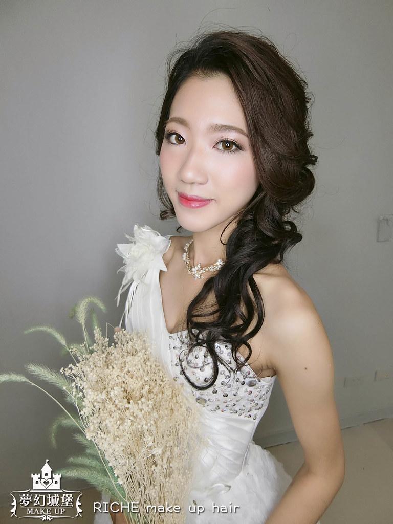 【新秘RICHE】新娘造型創作 / 短髮-側邊接髮造型
