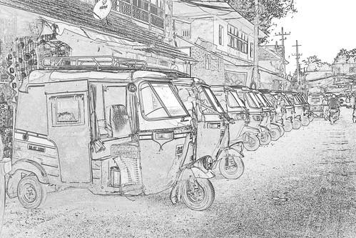 India - Karnataka - Gokarna - Auto Rickshaws - 2c