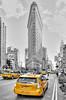 Flatiron Building Yellow Taxi Cabs (Kofla Olivieri) Tags: flatironbuilding newyorkcity nyc manhattan adobephotoshopelements topazadjust nikond7000 5thavenue photomatixpro yellow taxi cab
