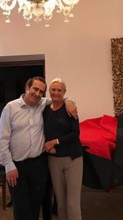 Avec Annemarie Schindler à la Villa Schindler Août 2017
