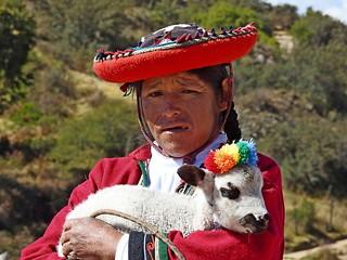 Peruvian Women in Tradional Dress  Sacred Valley, Peru