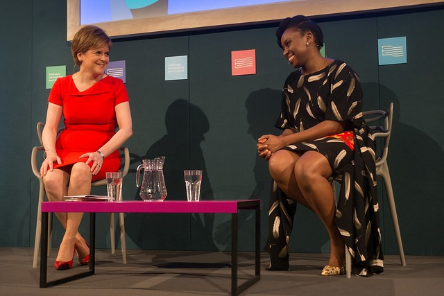 Chimamanda Ngozi Adichie with Nicola Sturgeon