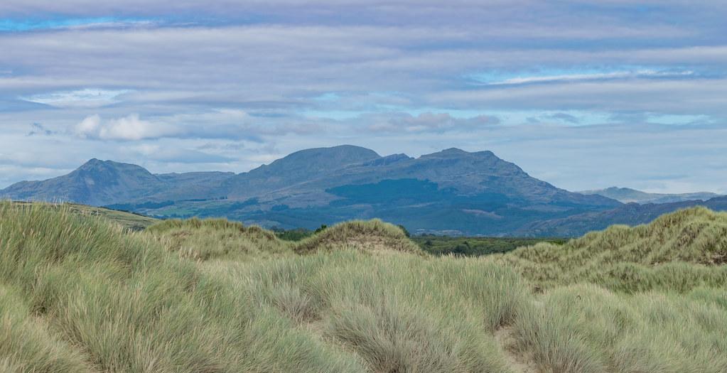 Mountains from Harlech Beach