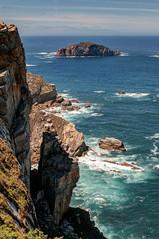 Acantilados del cabo Peñas (ccc.39) Tags: asturias gozón cabopeñas acantilados mar cantábrico agua oleaje espuma isla costa océnao cliff coast
