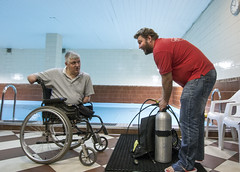 0615_01a (KnyazevDA) Tags: disability disabled diver diving amputee underwater wheelchair