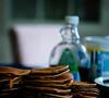 Breakfast (winhide) Tags: breakfast pncakes pickupsticks food found objects