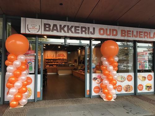 Ballonpilaar Breed Rond Bakkerij Oud Beijerland