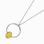 Circle Pendant with Amber thumbnail