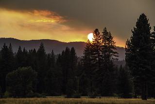 Graeagle fiery sunset