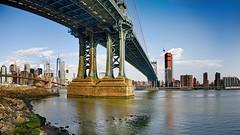 NY Brooklyn II (stega60) Tags: newyork brooklyn manhattan manhattanbridge bridge skyline sky water clouds hdr panorama stega60