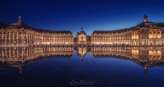 La place de la Bourse (Iván F.) Tags: bourdeaux france francia burdeos place bourse travel europe city cityscape explore explorer exploration long exposure blue night light urban street sony a7r zeiss 1635 nisi