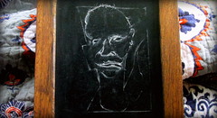 (timetomakethepasta) Tags: chalkboard art jason albany new york demon chalk drawing mind black white
