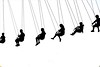 Just a Swingin' (slammerking) Tags: statefair swings silhouette