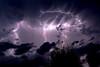 Fulmine nella notte (Paolo Morone) Tags: fulmine lampo bluviola natura luce raid temporale fulmini nero cielo