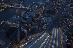 Metropolis: London - View from The Shard London Bridge (claudios53) Tags: panorama landscape notturno night luci shard grattacielo skyscraper city building londra london glass metropoli londonbridge