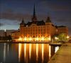 The evening in Stockholm (ArtDen82) Tags: evening stockholm sveden scandinavia architecture bridge sunset longexposure reflections
