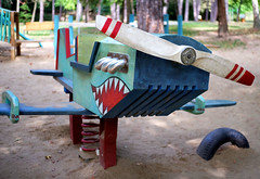 Airplane in the playground, Debrecen (fundaluk) Tags: 7artisans 25mm