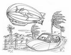 Footy (rod1691) Tags: bw scifi grey concept custom car retro space hotrod drawing pencil h2 hb original story fantasy funny tale automotive art illistration greyscale moonpies sketch