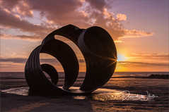 Mary's Shell (bretton98) Tags: cleveleys marysshell art beach davidwhitephotography bretton98 outdoor sea sand clouds sunset