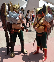 2017-Fans Dressed Up as Hawkman & Hawkgirl Outside SDCC-03 (David Cummings62) Tags: sandiego ca calif california comiccon con fans dressup cosplay davidcummings davecummings 2017 dc comics jla jsa hawkman hawkgirl