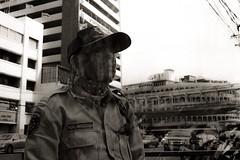Bangkok. (Devlin Cook) Tags: analogue mono thailand bangkok film grain blackandwhite candid unposed street f135 pakon standdeveloped rodinal pan400 ilford f28 35mm zuiko om olympus om2n