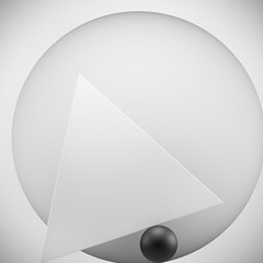 ECOS: Exploring compositions of shapes => Img. 09 (Michalis_Kalamenios) Tags: bw grey calm equilibrium exploring experimental graphic contrast computer white black simple minimal tones balance geometry geometrical monochrome ecos 3d render cgi art composition shapes light abstract