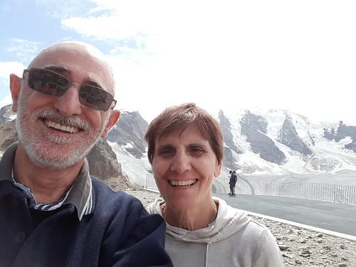 Selfie con Piz Palü