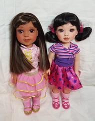 ~*Custom Wellie Wishers Ashlyn & Emerson (ElfinHugs) Tags: american girl wellie wisher repaint custom emerson ashlyn