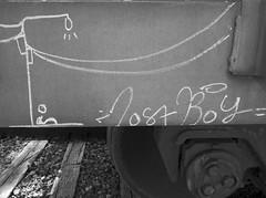 Boxcar Art (orangedot777) Tags: moniker freighttraingraffiti freightcar boxcarart railart lostboy