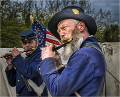 Fortress Wales at Caldicot Castle - 2016 (DHHphotos) Tags: fortress wales caldicot american civil war union soldier military musician nikon south newport d5300