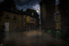 The Post Office (Kev Walker ¦ 9 Million Views..Thank You) Tags: rain reflections clouds architecture street heptonstall village westyorkshire canon1855mm calderdale