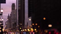 City Street Bokeh (Jovan Jimenez) Tags: sony a6500 tilt shift nikkor 50mm f12 tiltshift 6500 alpha ilce street bokeh city chiago cars video optical nikon miniature skyline cityscape scape golden hour kipon adapter mirrorless