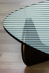 Noguchi (bill barfield) Tags: noguchi isamunoguchi table furniture glass reflection blinds interior woodfloor