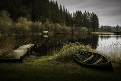A Moment in Time (Lindi m) Tags: scotland lochard boathouse jetty boat water