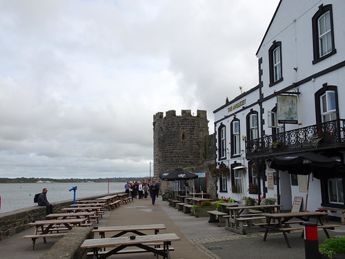 Outside the Anglesey Arms, Caernarfon