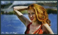 La femme - (agostinodascoli) Tags: donna modella marcodimaggio agostinodascoli femme texture impressionismo colore fullcolor art digitalart digitalpainting photoshop photopainting rossa