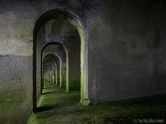 Arches, Light & Shadow (Sue MacCallum-Stewart) Tags: folkestone kent arches light shadow structure tunnel coast green