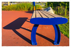 Me and my Shadow... (Timothy Valentine) Tags: shadow 0817 harbourpassagepassageduport vacation 2017 bench saintjohn newbrunswick canada ca