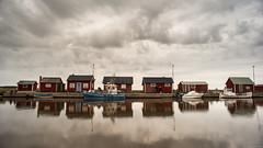 Gräsgårds hamn (andreasbrink) Tags: landscape oeland summer sweden clouds water fishing village